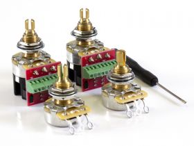 CTS Pot Pack for Gibson, 500K Audio, 2 Volume, 2 Push/Pull (PP01)