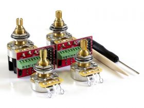 CTS Pot Pack for Gibson, 500K Audio, 2 Volume, 2 Push/Pull (PP02)