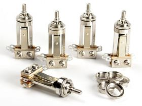 Switchcraft 3-Way Toggle Switch, Long Straight, 5-Pack