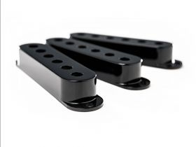 Fender Pickup Cover Set, Strat, Black