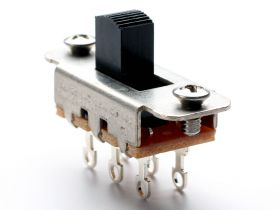Switchcraft 2-Position Slide Switch, Black (Jazzmaster/Jaguar)