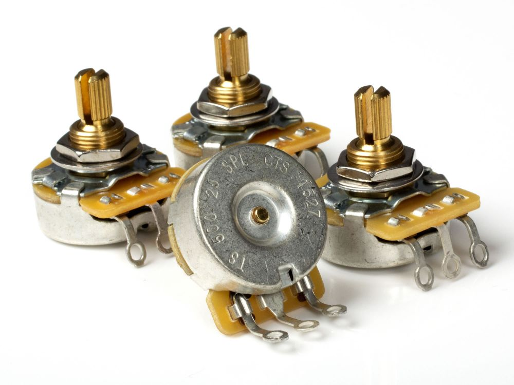 CTS Pot, 500k Audio, Split Shaft (4 Pack)