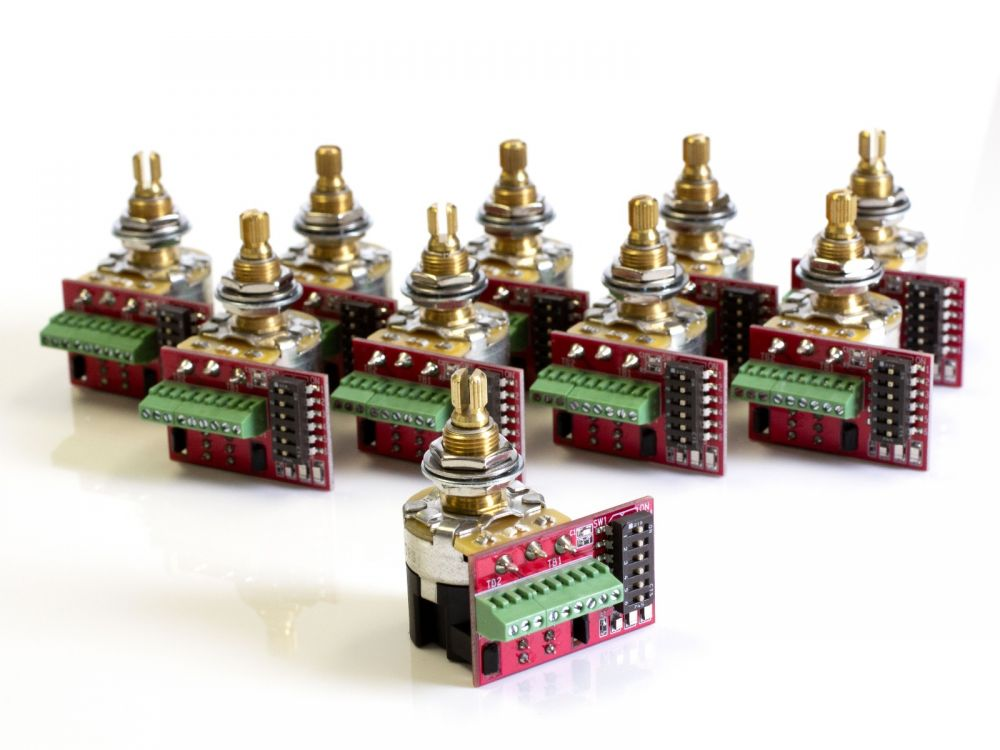 CTS Pot, 500/250K Audio, Push-Pull, Switched, Split Shaft (10 Pack)