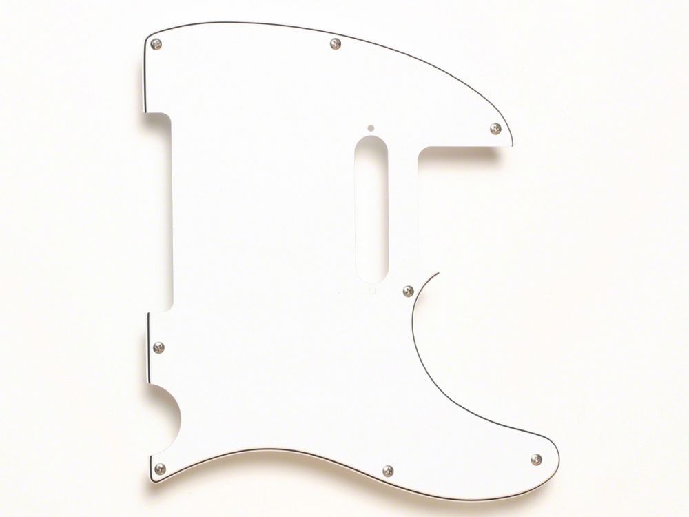 Fender Pickguard, Tele, Modern 8-Hole, 3-Ply White
