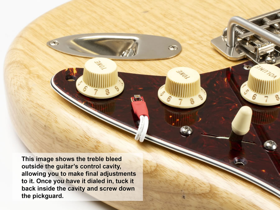 variable treble bleed installed in stratocaster