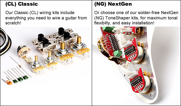 toneshaper wiring kit stratocaster hh5 total green machine tele ng